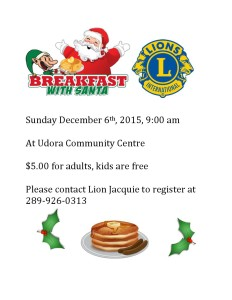 Breakfast with Santa 2015 flyer
